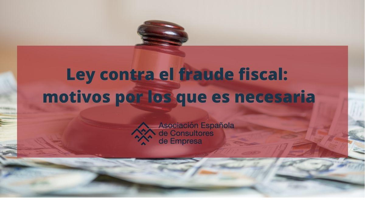 Ley contra el fraude fiscal - Portada